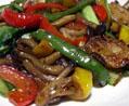 ホタテ貝柱とキノコと野菜の中華炒め